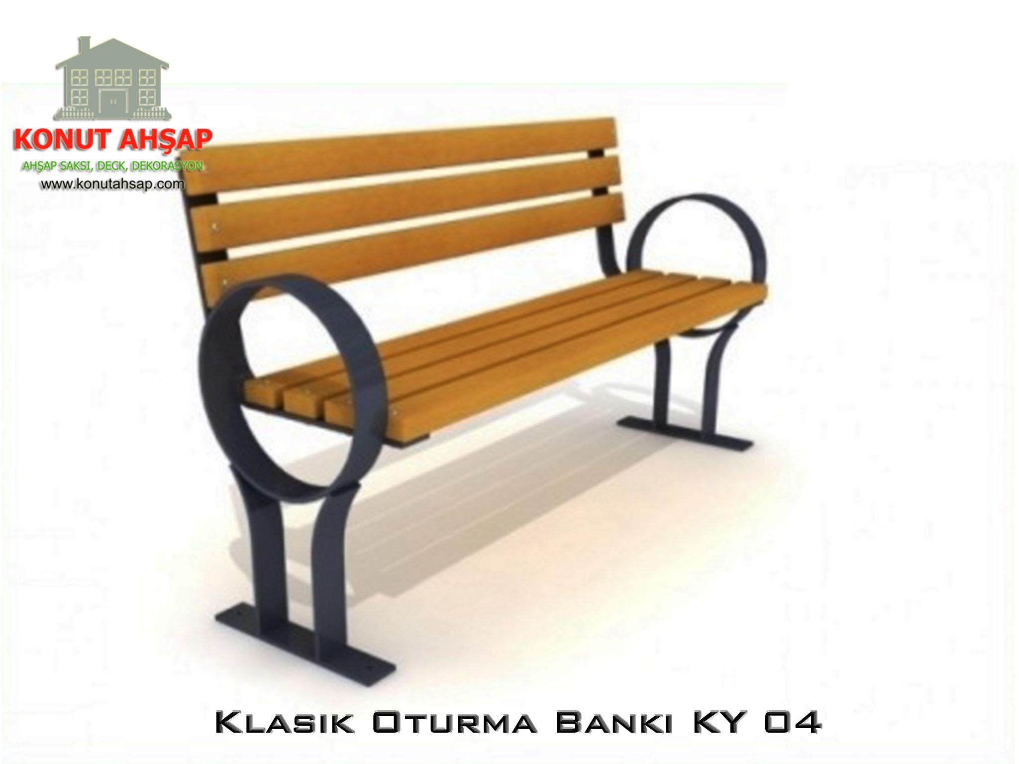 Sırtlıklı Oturma Bankı KY 04