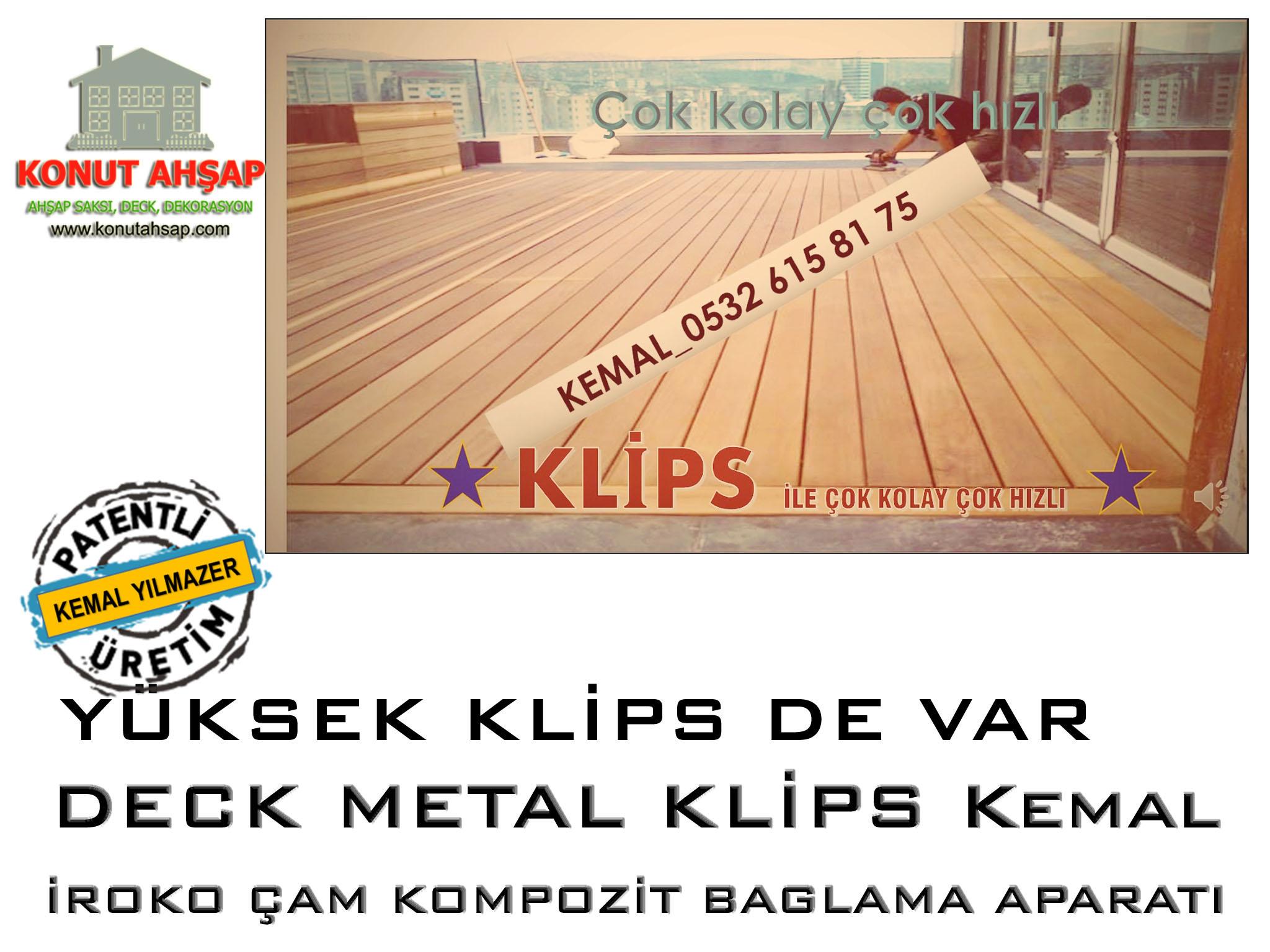 Deck Metal Klips Kaplama