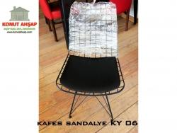 kafes tel sandalye