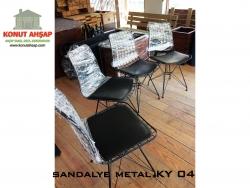 sandalye metal incisi