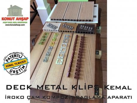 Deck Metal Klips Pilastik