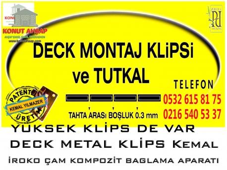 Deck Metal Klips Tutkal