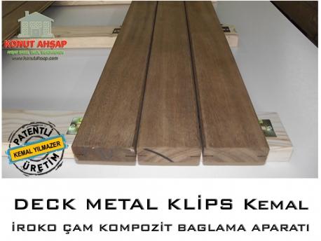 Deck Metal Klips İroko