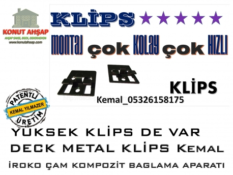 Deck Metal Klipsler