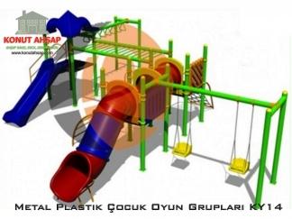 Metal Plastik Çocuk Oyun Grupları KY 14